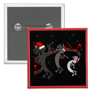 Kokopelli Christmas 15 Cm Square Badge