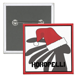 Kokopelli Christmas Template 15 Cm Square Badge