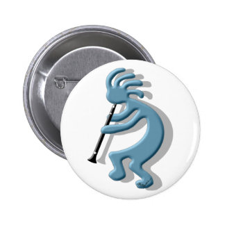 Kokopelli Clarinet 6 Cm Round Badge