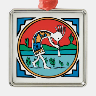 Kokopelli Color Christmas Ornament