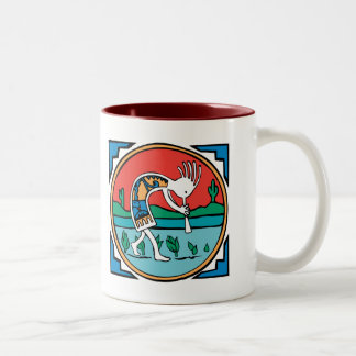 Kokopelli Color Two-Tone Coffee Mug