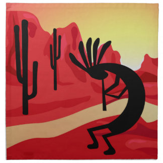 Kokopelli Desert Sunset Southwest Dinner Napkin