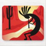 Kokopelli Desert Sunset Southwest Mousepad Mouse Pads