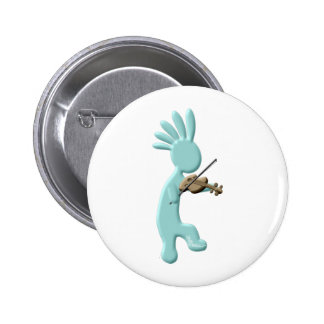 Kokopelli Fiddle 6 Cm Round Badge