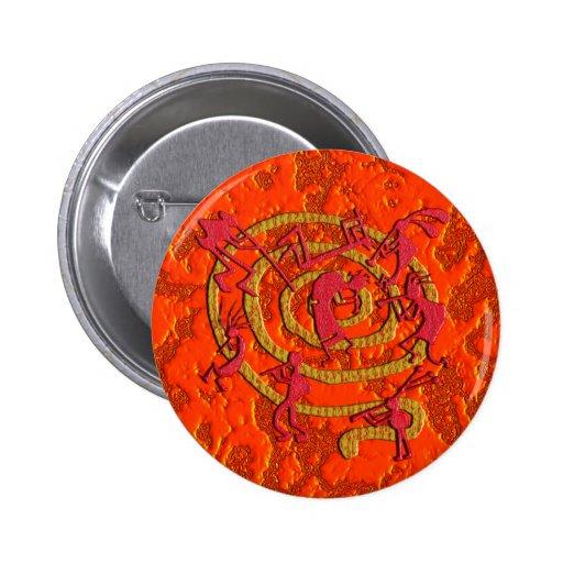 Kokopelli: Fiery Dance - Button #2