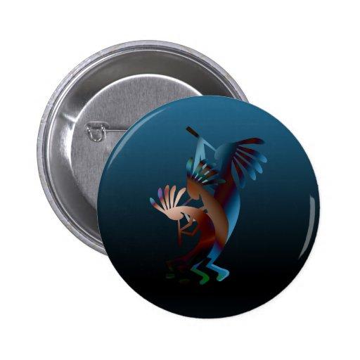 Kokopelli Flute Music Button Buttons