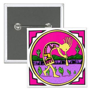 Kokopelli, Flute Player of the Desert 15 Cm Square Badge