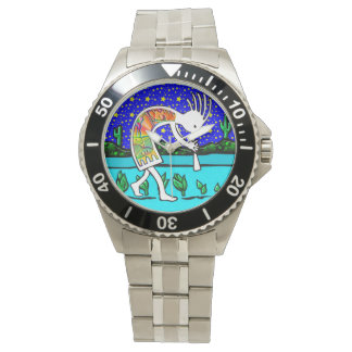Kokopelli Flute Player Under the Stars Watch