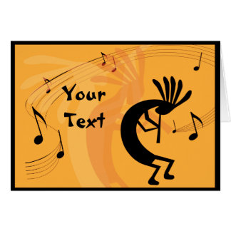 Kokopelli Gets Down Music Greeting Card