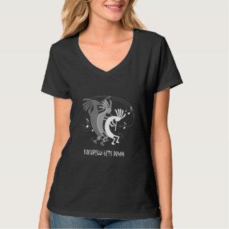 Kokopelli Gets Down Women's  Black T-Shirt