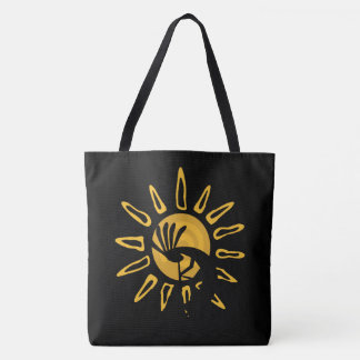 Kokopelli Gold Sun AOPLT Tote Bag