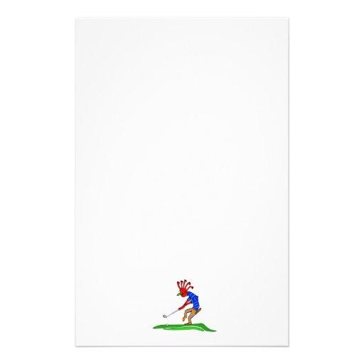 Kokopelli Golfer Stationery Paper