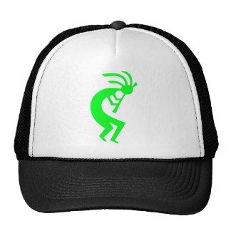Kokopelli Green Trucker Hats