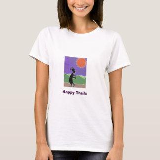 Kokopelli, Happy Trails T-Shirt