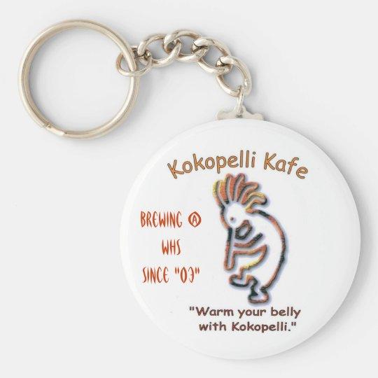 kokopelli kafe 001_edited, Brewing @ WHS since ... Basic Round Button Key Ring