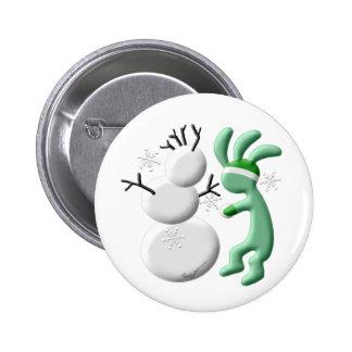 Kokopelli Kids Snowman 6 Cm Round Badge
