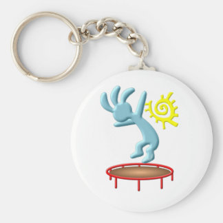 Kokopelli Kids Trampoline Basic Round Button Key Ring