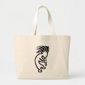 Kokopelli Large Tote Bag
