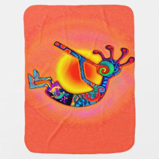 Kokopelli Lizard Sun Baby Blanket