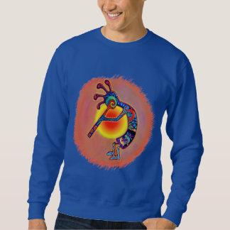Kokopelli Lizard Sun Pullover Sweatshirts