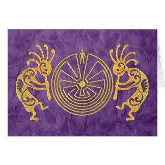 KOKOPELLI / MAN IN THE MAZE gold + your ideas Card