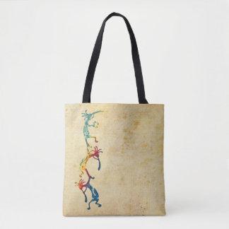 KOKOPELLI musician acrobats + your ideas Tote Bag