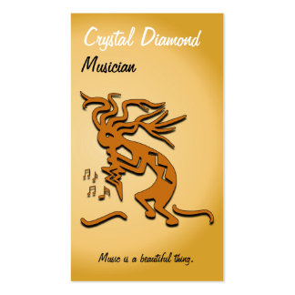 Kokopelli Musician Double-Sided Standard Business Cards (Pack Of 100)