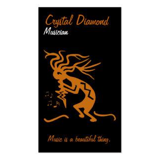 Kokopelli Musician Business Card Template