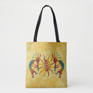 KOKOPELLI musician SUN + your ideas Tote Bag