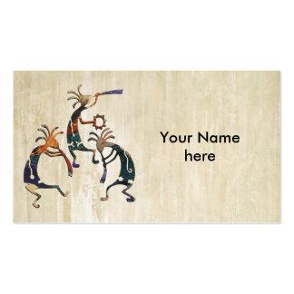 KOKOPELLI musician trio + your ideas Business Card Templates