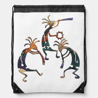 KOKOPELLI musician trio + your ideas Drawstring Bag