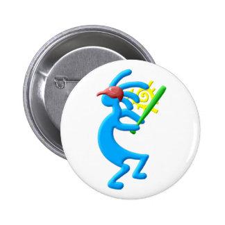 Kokopelli Native American Baseball 6 Cm Round Badge