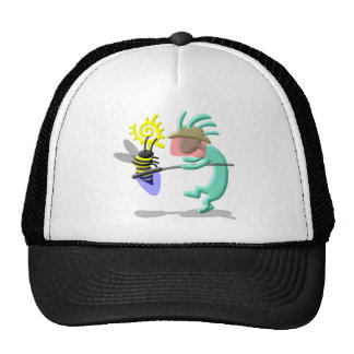 Kokopelli Native American Bee Keeper Trucker Hat