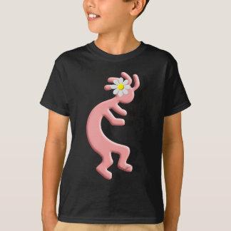 Kokopelli Native American Daisy Flower Girl T-Shirt