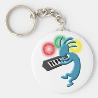 Kokopelli Native American Keyboardist Basic Round Button Key Ring