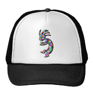 Kokopelli Native American Rainbow Theme Mesh Hats