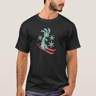 Kokopelli Native American Skiing T-Shirt