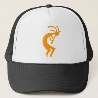 Kokopelli Orange Trucker Hat
