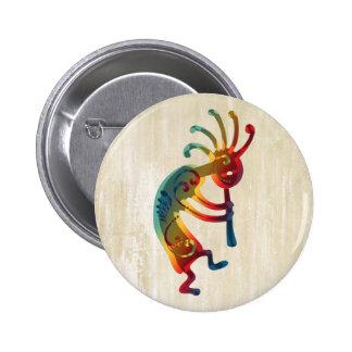 KOKOPELLI ornaments + your ideas 6 Cm Round Badge