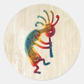 KOKOPELLI ornaments + your ideas Classic Round Sticker
