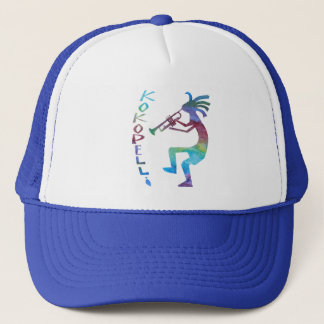 Kokopelli Plays The Trumpet Trucker Hat