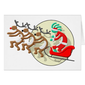 Kokopelli Santa Clause Card