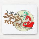 Kokopelli Santa Clause Mouse Pads