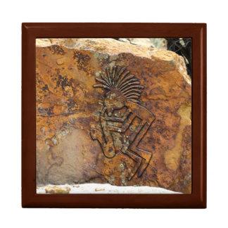Kokopelli Saxaphone Player Petroglyph Gift Box