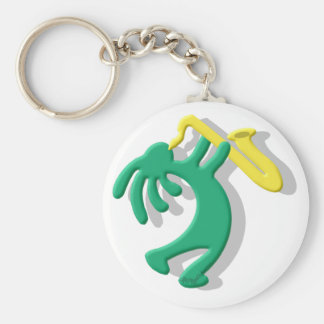 Kokopelli Saxophone Key Ring