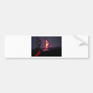 Kokopelli Shadows and Fire Car Bumper Sticker