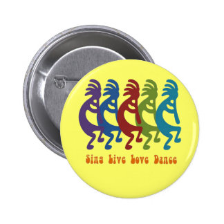 Kokopelli - Sing Live Love Dance 6 Cm Round Badge
