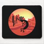 Kokopelli Southwest Sunset Mousepad
