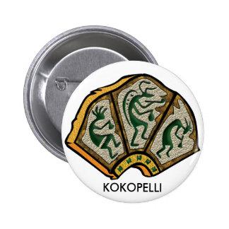 Kokopelli Stone Button