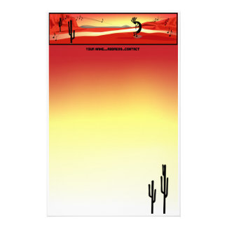 Kokopelli Sunset Stationery